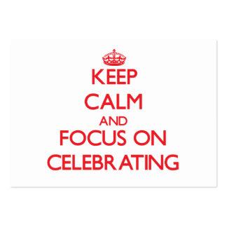 Guarde la calma y el foco en la celebración plantilla de tarjeta de negocio