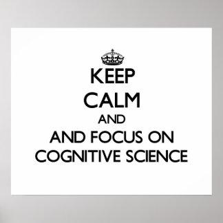 Guarde la calma y el foco en la ciencia cognitiva poster