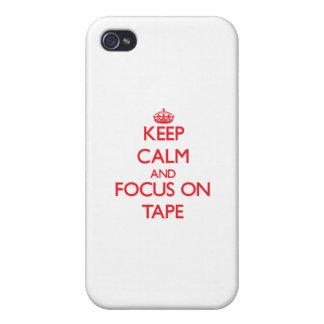 Guarde la calma y el foco en la cinta iPhone 4/4S carcasa