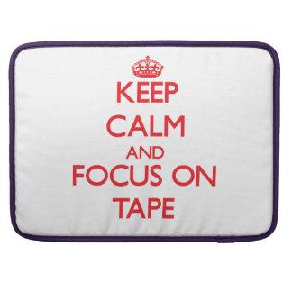 Guarde la calma y el foco en la cinta funda para macbook pro