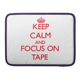 Guarde la calma y el foco en la cinta fundas para macbooks