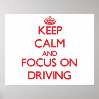 Guarde la calma y el foco en la conducción