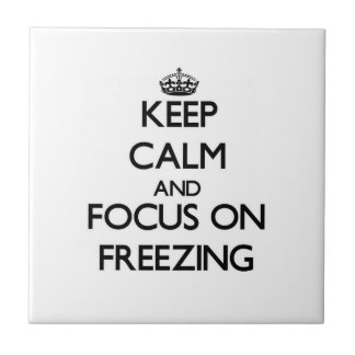 Guarde la calma y el foco en la congelación teja  ceramica