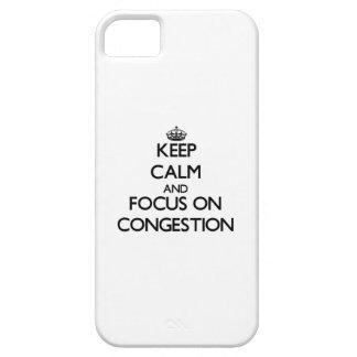 Guarde la calma y el foco en la congestión iPhone 5 Case-Mate protectores