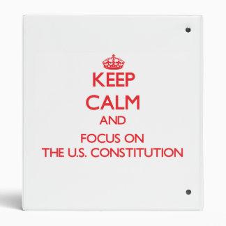 Guarde la calma y el foco en la constitución de