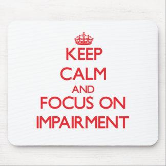 Guarde la calma y el foco en la debilitación mousepad