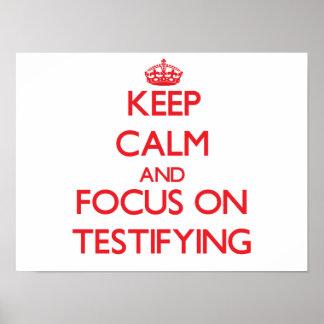 Guarde la calma y el foco en la declaración impresiones