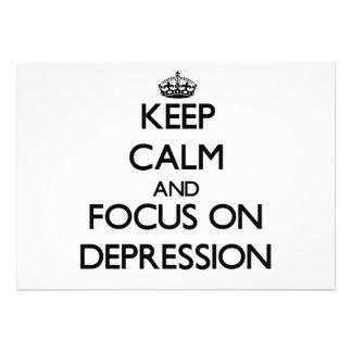 Guarde la calma y el foco en la depresión