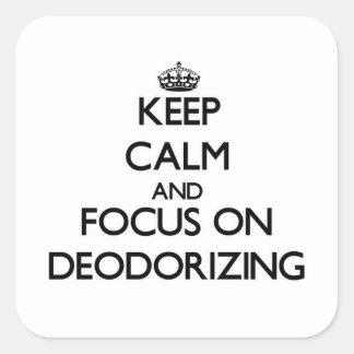 Guarde la calma y el foco en la desodorización colcomanias cuadradas