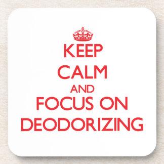 Guarde la calma y el foco en la desodorización posavasos