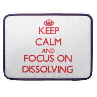 Guarde la calma y el foco en la disolución