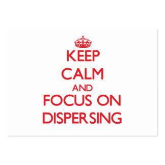 Guarde la calma y el foco en la dispersión tarjetas de visita