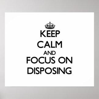 Guarde la calma y el foco en la disposición