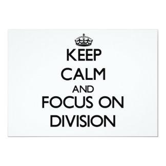 Guarde la calma y el foco en la división comunicados personalizados