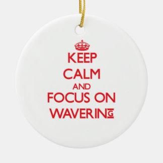 Guarde la calma y el foco en la duda ornamentos de navidad