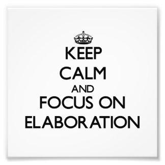 Guarde la calma y el foco en la ELABORACIÓN Fotografia
