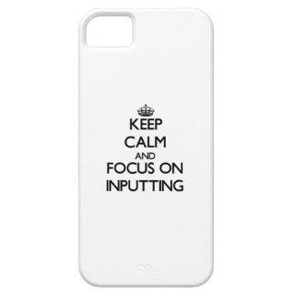 Guarde la calma y el foco en la entrada iPhone 5 carcasa