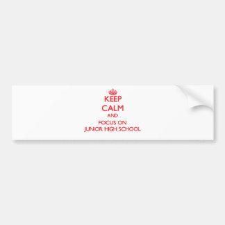 Guarde la calma y el foco en la escuela de secunda