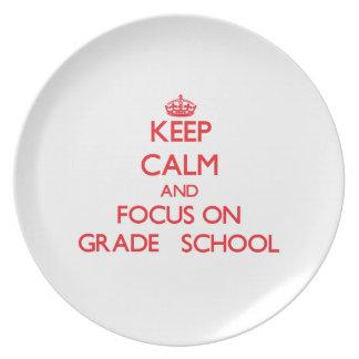 Guarde la calma y el foco en la escuela primaria