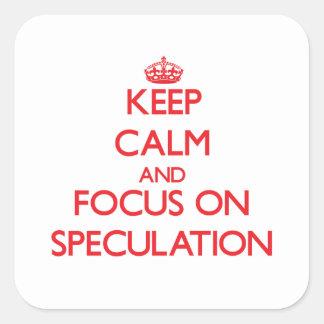 Guarde la calma y el foco en la especulación colcomania cuadrada