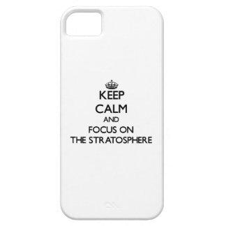 Guarde la calma y el foco en la estratosfera iPhone 5 fundas