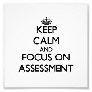 Guarde la calma y el foco en la evaluación cojinete