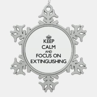 Guarde la calma y el foco en la EXTINCIÓN Adornos