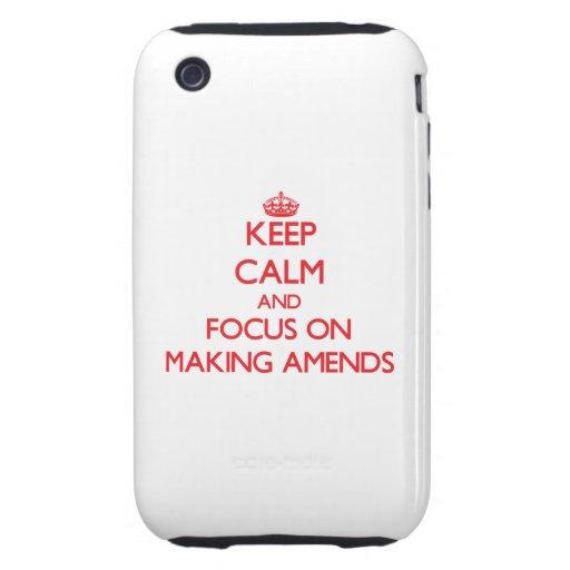 Guarde la calma y el foco en la FABRICACIÓN DE COM iPhone 3 Tough Fundas
