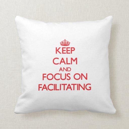 Guarde la calma y el foco en la facilitación cojin