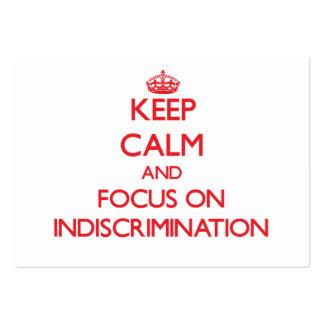 Guarde la calma y el foco en la falta de discrimin