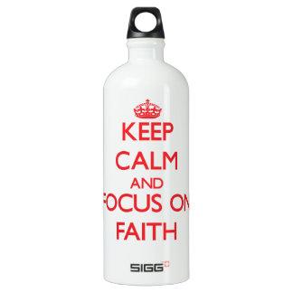 Guarde la calma y el foco en la fe