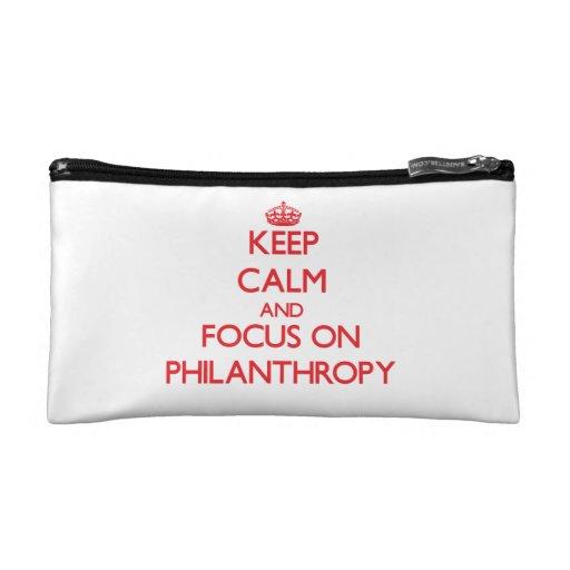 Guarde la calma y el foco en la filantropía