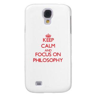 Guarde la calma y el foco en la filosofía