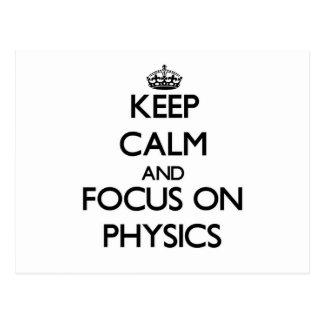 Guarde la calma y el foco en la física postal