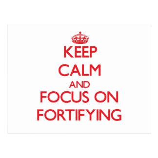 Guarde la calma y el foco en la fortificación postal