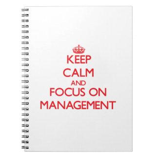Guarde la calma y el foco en la gestión libreta espiral