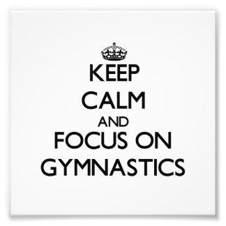 Guarde la calma y el foco en la gimnasia arte fotográfico