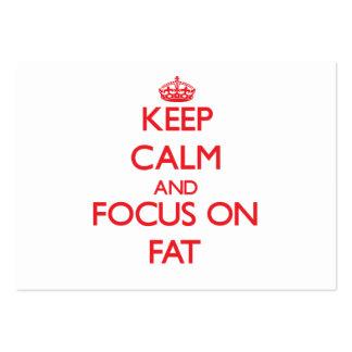 Guarde la calma y el foco en la grasa