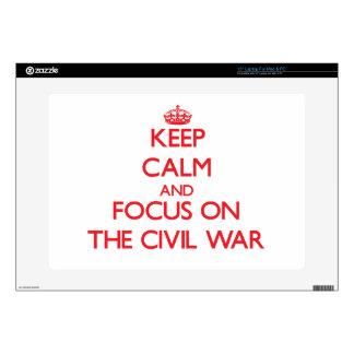 Guarde la calma y el foco en la guerra civil portátil skin