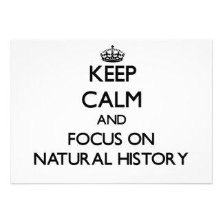 Guarde la calma y el foco en la historia natural comunicado