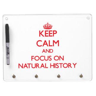 Guarde la calma y el foco en la historia natural