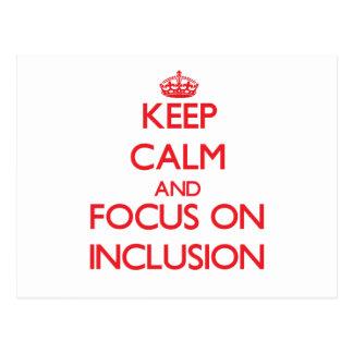 Guarde la calma y el foco en la inclusión postal