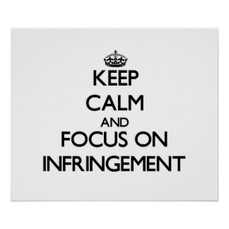 Guarde la calma y el foco en la infracción poster