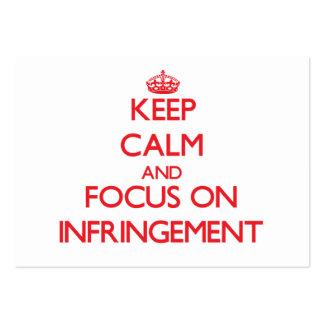 Guarde la calma y el foco en la infracción plantilla de tarjeta personal