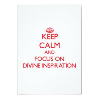 """Guarde la calma y el foco en la inspiración divina invitación 5"""" x 7"""""""