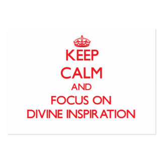 Guarde la calma y el foco en la inspiración divina tarjetas de visita grandes