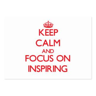 Guarde la calma y el foco en la inspiración tarjetas de visita grandes