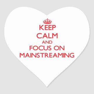 Guarde la calma y el foco en la integración colcomanias corazon