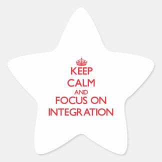 Guarde la calma y el foco en la integración pegatinas forma de estrella personalizadas