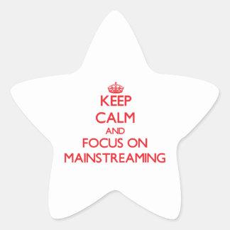 Guarde la calma y el foco en la integración colcomanias forma de estrella
